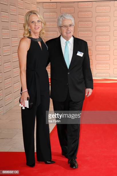 Frank Elster and his wife Britta Gessler attend the German Media Award 2016 at Kongresshaus on May 25, 2017 in Baden-Baden, Germany. The German Media...