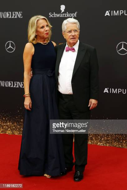 Frank Elstner and Britta Gessler attend the 71tst Bambi Awards at Festspielhaus Baden-Baden on November 21, 2019 in Baden-Baden, Germany.