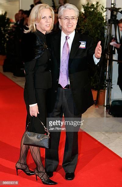 Frank Elstner and Britta Gessler attend the German Media Awards January 24, 2006 in Baden-Baden, Germany. Singer Bono was recognized for his work at...