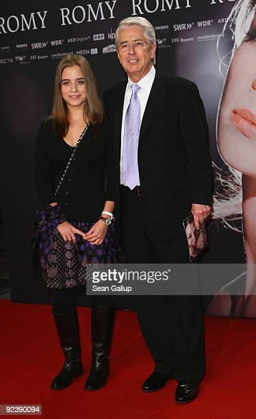 Frank Elstner and his daughter Lena attend the premiere of Romy at the Delphi cinema on October 27 2009 in Berlin Germany