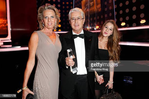 Frank Elstner and his wife britta and daughter Enya attend the German TV Award 2012 at Coloneum on October 2 2012 in Cologne Germany