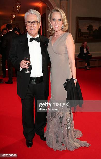 Frank Elstner and his wife Britta during the Gala Spa Awards 2015 at Brenners ParkHotel Spa on March 21 2015 in BadenBaden Germany