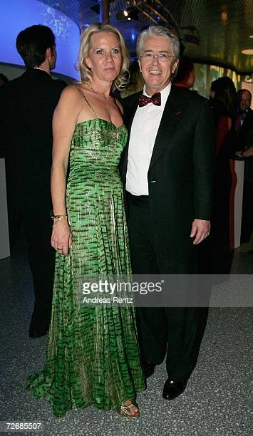 Frank Elstner and his wife Britta Gessler attend the 58th annual Bambi Awards at the Mercedes-Benz Museum on November 30, 2006 in Stuttgart, Germany....
