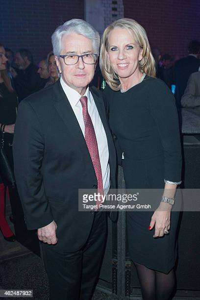 Frank Elstner and his wife Britta Gessler attend the Mira Award 2015 at Station on January 29 2015 in Berlin Germany