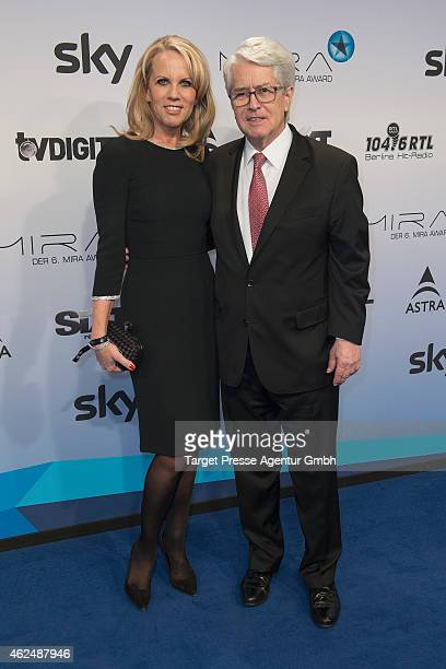Frank Elstner and his wife Britta Gessler attend the Mira Award 2015 at Station on January 29, 2015 in Berlin, Germany.