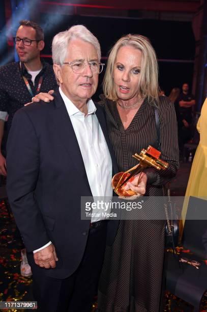 Frank Elstner and his wife Britta Gessler attend the YouTube Goldene Kamera Digital Awards at Kraftwerk on September 26, 2019 in Berlin, Germany.