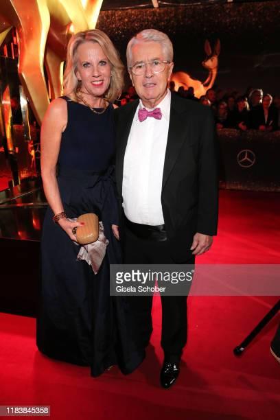 Frank Elstner and his wife Britta Gessler during the 71tst Bambi Awards at Festspielhaus Baden-Baden on November 21, 2019 in Baden-Baden, Germany.