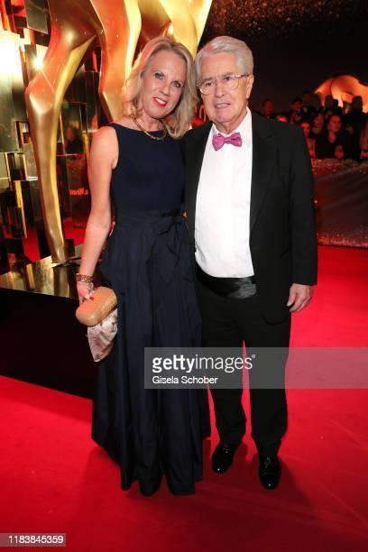 Frank Elstner and his wife Britta Gessler during the 71tst Bambi Awards at Festspielhaus BadenBaden on November 21 2019 in BadenBaden Germany