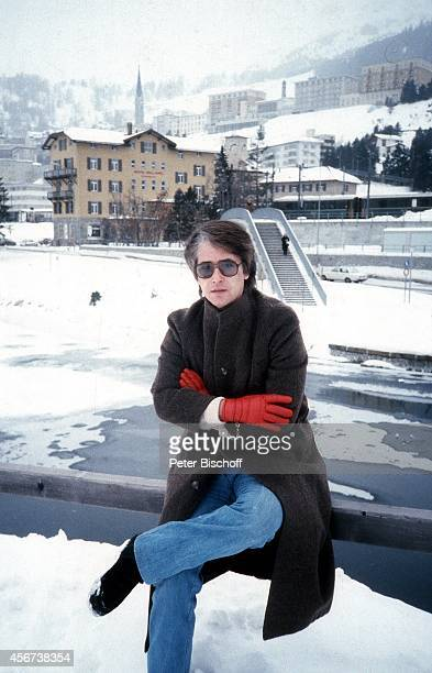 Frank Elstner WinterUrlaub am in St Moritz Schweiz
