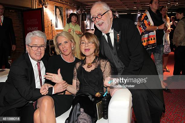 Frank Elstner,his wife Britta, Cornelia Froboess and her husband Hellmuth Matiasek attend the 'Gala Abend mit Arthur Cohn' - as part of Filmfest...