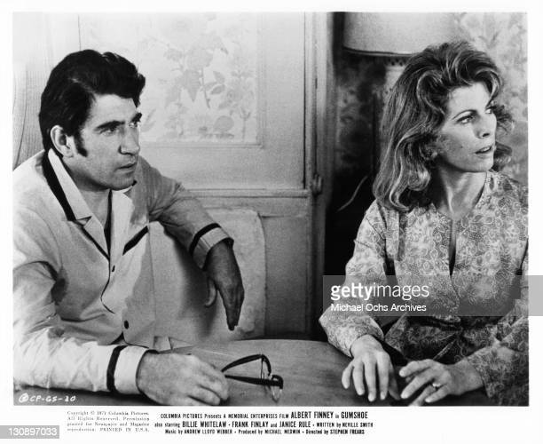 Frank Finlay and Billie Whitelaw are breakfast in a scene from the film 'Gumshoe', 1971.