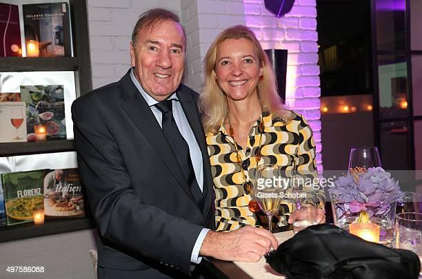 Frank Fleschenberg and Claudia Cieslarczyk editorinchief of 'Frau im Spiegel' during the Munich Connexxxions PR XMas cocktail event at Kaefer Atelier...