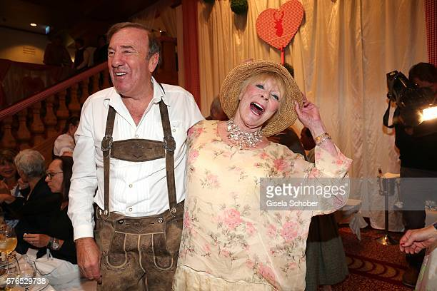 Frank Fleschenberg and Elke Sommer during a bavarian evening ahead of the Kaiser Cup 2016 on July 15 2016 in Bad Griesbach near Passau Germany