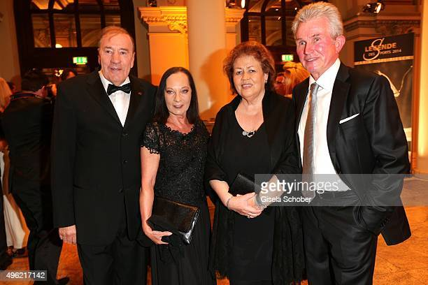 Frank Fleschenberg and his wife Erika Fleschenberg Jupp Heynckes and his wife Iris Heynckes during the German Sports Media Ball at Alte Oper on...