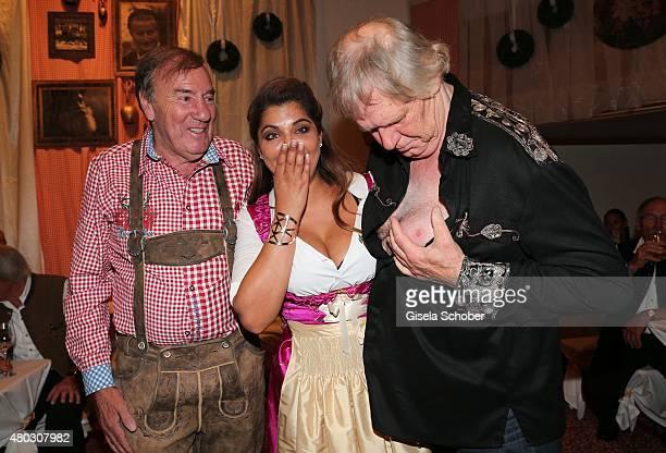 Frank Fleschenberg Indira Weis Gunter Gabriel during a Bavarian Evening ahead of the Kaiser Cup 2015 on July 10 2015 in Bad Griesbach near Passau...