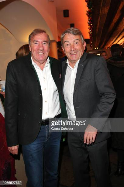 Frank Fleschenberg Wolfgang Niersbach during the Christmas Charity Dinner hosted by StefanMross AnnaCarinaWoitschack and Connections PR for the...