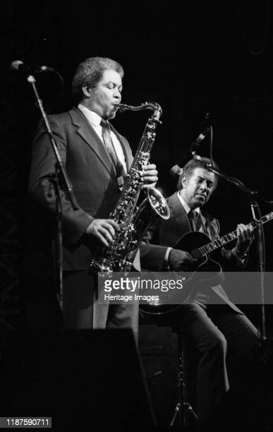 Frank Foster and Kenny Burrell Dominion Theatre London Nov 1985 Artist Brian O'Connor
