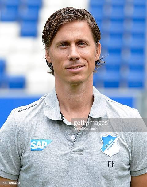 Frank Froehling poses during the 1899 Hoffenheim team presentation at Wirsol RheinNeckarArena on July 15 2014 in Sinsheim Germany