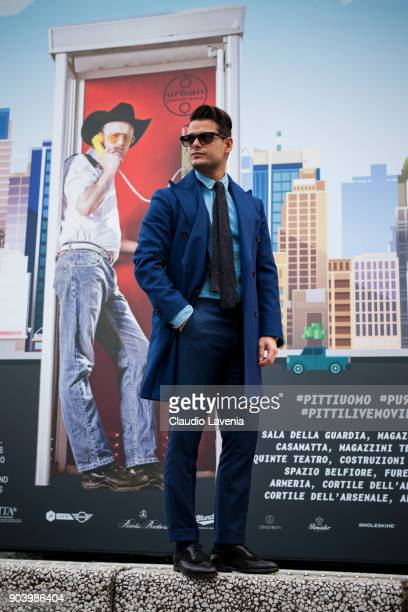 Frank Gallucci is seen during the 93 Pitti Immagine Uomo at Fortezza Da Basso on January 11 2018 in Florence Italy
