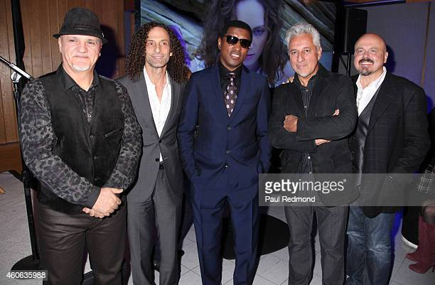 Frank Gambale Kenny G Kenny'Babyface' Edmonds Humberto Gatica and Walter Afanasieff attend ISINA collaboration announcement at Capitol Recording...