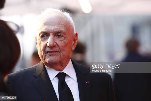 Frank Gehry the architect of the Pierre Boulez Hall arrives at the opening ceremony on March 4 2017 in Berlin Germany The Frank Gehrydesigned Pierre...