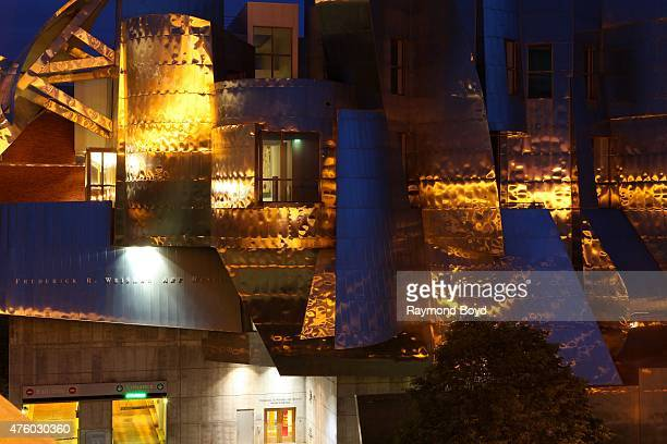 Frank Gehry's Frederick A Weisman Art Museum on the University of Minnesota campus on May 23 2015 in Minneapolis Minnesota