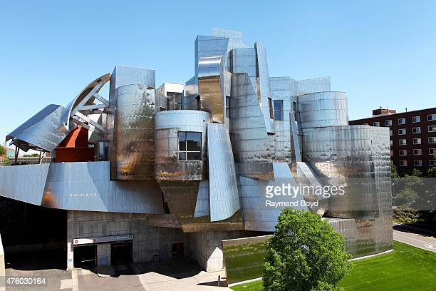 Frank Gehry's Frederick R Weisman Art Museum on the University of Minnesota campus on May 21 2015 in Minneapolis Minnesota
