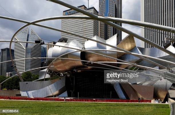 Frank Gehry's 'Jay Pritzker Pavilion' in Millennium Park in Chicago Illinois on June 24 2017