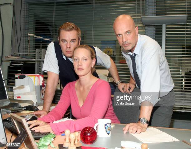 "Frank Giering, Anna Schudt and Christian Berkel during On Set of the New ZDF TV Series ""Krimi Berlin"" - July 6, 2006 in Berlin, Germany."
