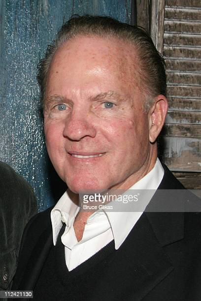 Frank Gifford during Elisabeth Hasselbeck and Tim Hasselbeck Visit Kathie Lee Gifford and Frank Gifford at 'Under the Bridge' at The Zipper Theater...