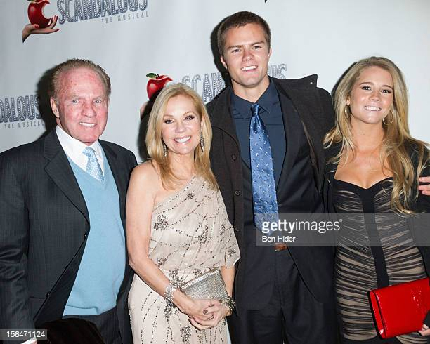 Frank Gifford Kathie Lee Gifford Cassidy Gifford and Cody Gifford attends the Scandalous Broadway Opening Night at Neil Simon Theatre on November 15...