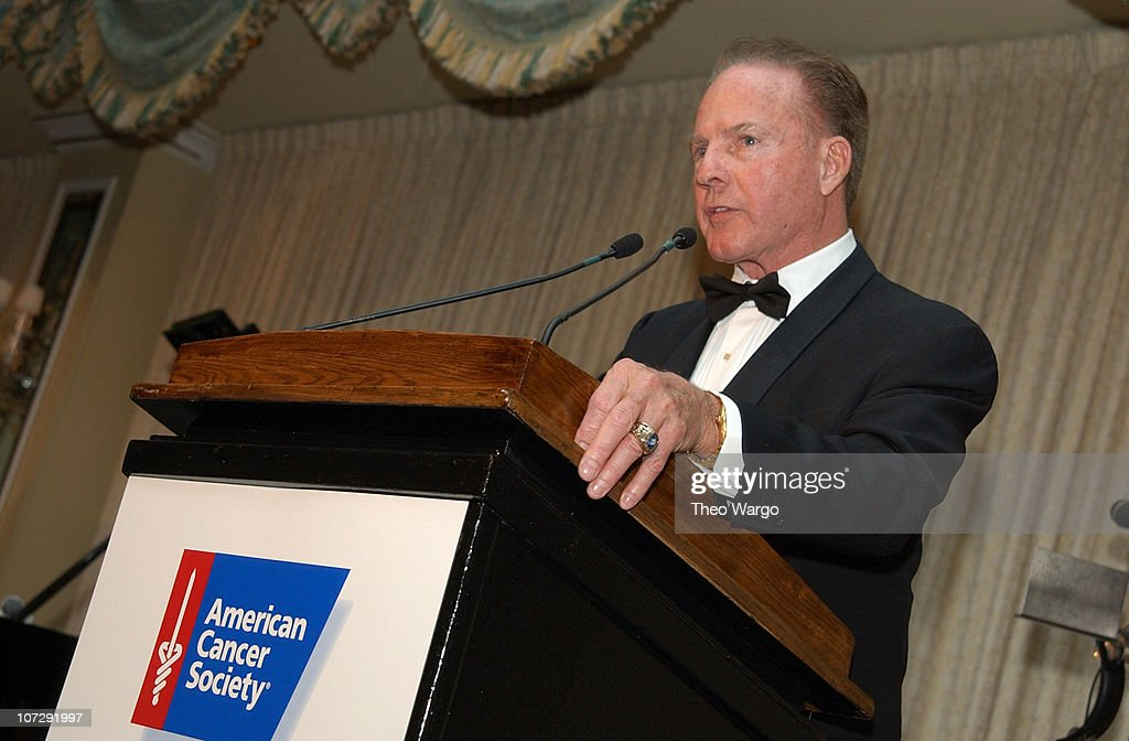 Frank Gifford Presents Humanitarian Award from The American Cancer Society to the late Roone Arledge's son