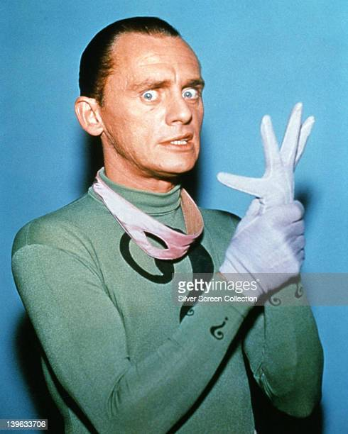 Frank Gorshin US actor and comedian in costume in a publicity portrait issued for the US television series 'Batman' USA circa 1967 The series...