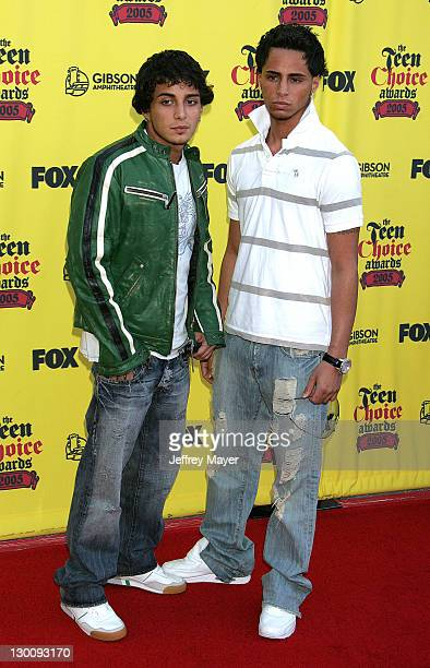 Frank Gotti Agnello and John Gotti Agnello during 2005 Teen Choice Awards Arrivals at Gibson Amphitheatre in Universal City California United States