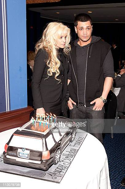 Frank Gotti Agnello and Victoria Gotti attend the celebration of Frank Gotti's 21st birthday with the cast of Gotti Three Generations at the Sheraton...