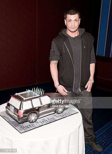 Frank Gotti Agnello attends the celebration of Frank Gotti's 21st birthday with the cast of Gotti Three Generations at the Sheraton New York Hotel...