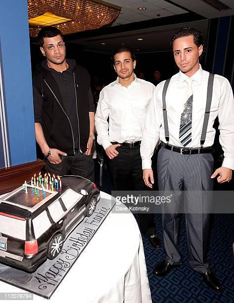 Frank Gotti Agnello John Gotti Agnello and Carmine Agnello Jr attend the celebration of Frank Gotti's 21st birthday with the cast of Gotti Three...