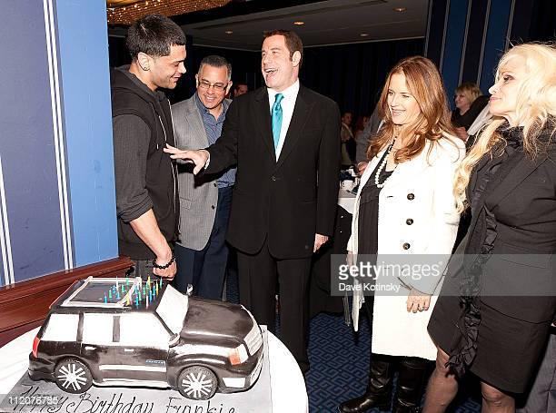 Frank Gotti Agnello John Gotti Jr John Travolta Kelly Preston and Victoria Gotti attend the celebration of Frank Gotti's 21st birthday with the cast...