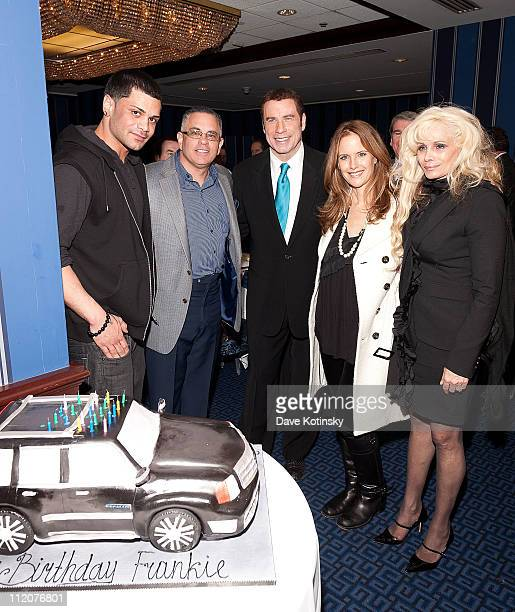 Frank Gotti Agnello John Gotti Jr John Travolta Kelly Preston Victoria Gotti attend the celebration of Frank Gotti's 21st birthday with the cast of...