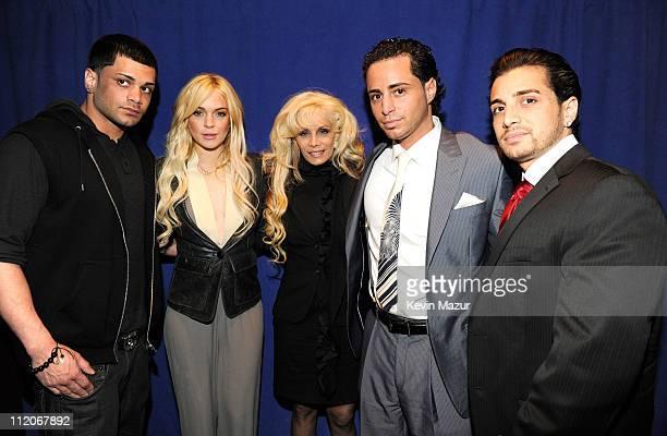 Frank Gotti Agnello Lindsay Lohan Victoria Gotti John Gotti A Jr and Carmine Gotti Agnello attend the 'Gotti Three Generations' press conference at...