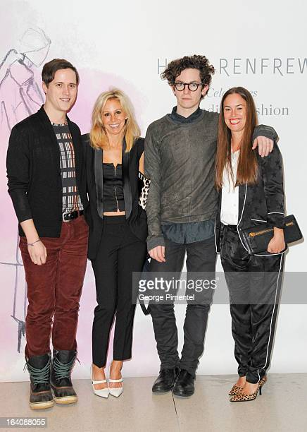 Frank Griggs and designers Andrea Lenczner Jeremy Laing and Christie Smythe attend the Holt Renfrew opening night party on March 18 2013 in Toronto...