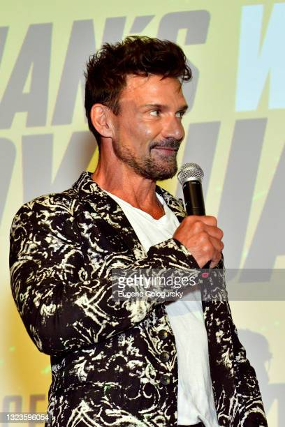 """Frank Grillo speaks onstage during the """"Hitman's Wife's Bodyguard"""" special screening at Crosby Street Hotel on June 14, 2021 in New York City."""