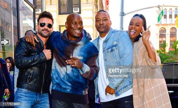 Frank GrilloTyrese Gibson Deon Taylor and Nafessa Williams are seen outside Build Studio on October 21 2019 in New York City