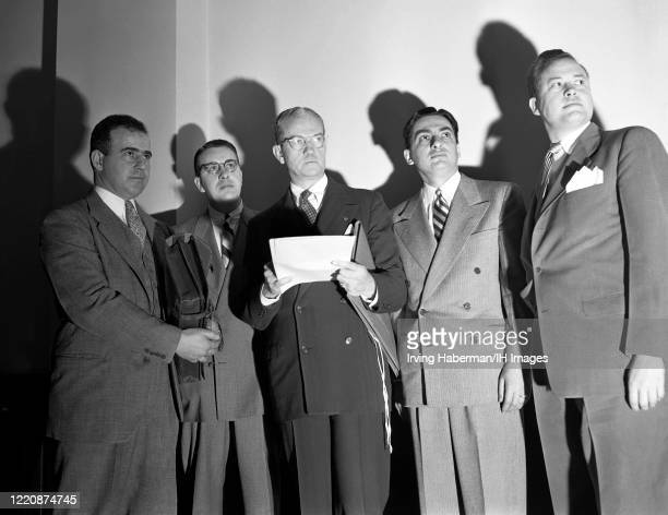 Frank H. Gordon, Edward C. Wallace, John F. X. McGohey, Irving S. Shapiro and Lawrence K. Bailey are American prosecution lawyers in the case of...