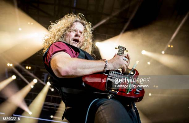Frank Hannon of Tesla performs during a show as part of Solid Rock Festival at Tecnopolis on December 06 2017 in Buenos Aires Argentina