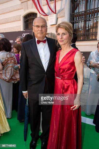 Frank Hensel with his wife Angela during the Fete Imperiale 2018 on June 29 2018 in Vienna Austria