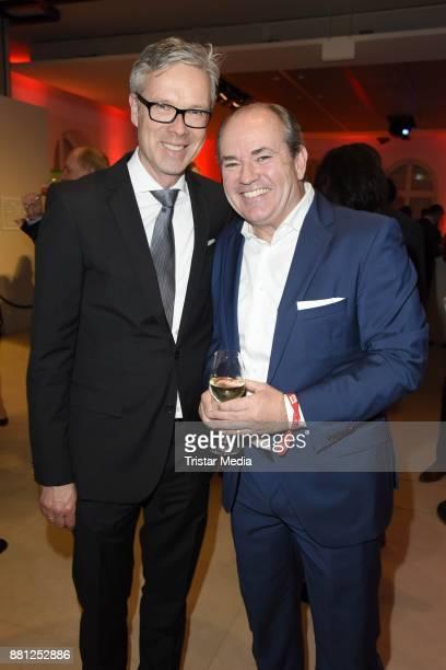 Frank Hoffmann and Wolfram Kons attend the 25 years anniversary ntv event at Bertelsmann Repraesentanz on November 28 2017 in Berlin Germany
