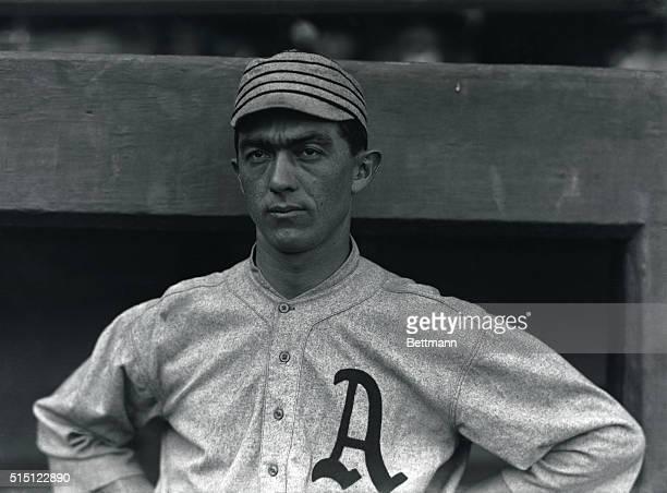 "Frank ""Homerun"" Baker, Third baseman with the Philadelphia Athletics in 1914."