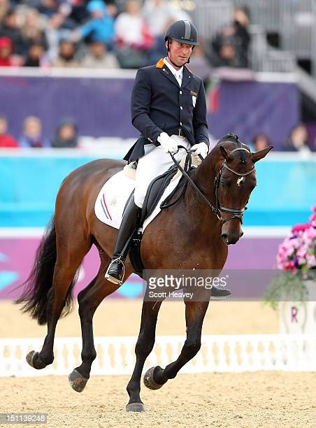 Frank Hosmar of Netherlands during the Dressage Individual Championship Test Grade IV on day 4 of the London 2012 Paralympic Games at Greenwich Park...