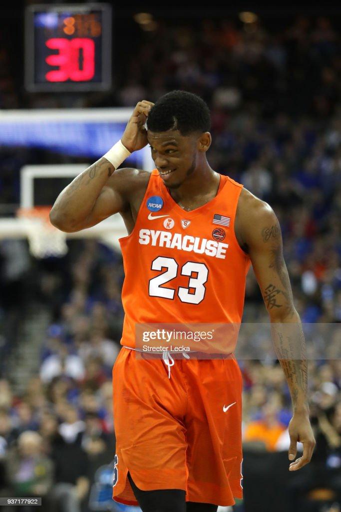 Frank Howard Of The Syracuse Orange Reacts Against The Duke Blue
